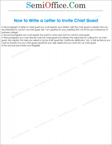 How to Write a Letter to Invite Chief Guest