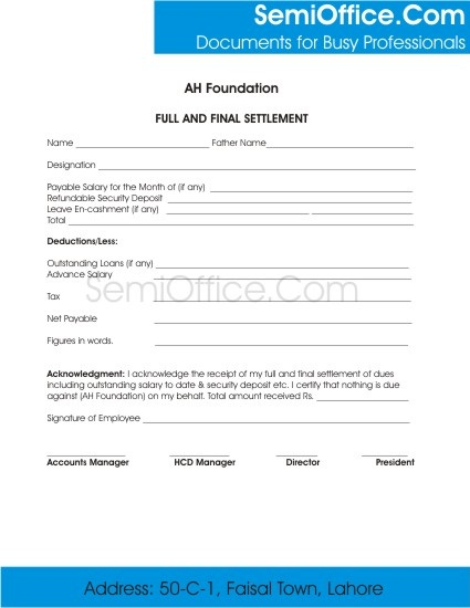 Employee Clearance Form For Resigning And Termination
