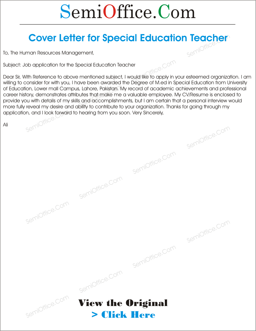 special education cover letter Searching for free sample special education director cover letter with example template including job duties, easy written word format doc find out how to write.