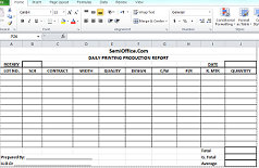 Daily Production Report Format in Excel