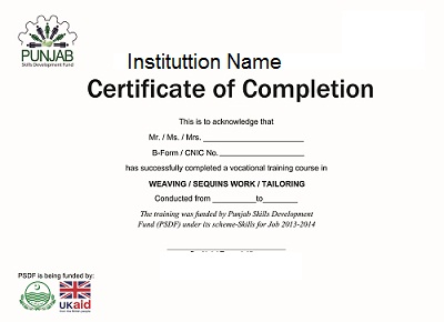 Samples Of Certificate Of Completion Course Work Completion – Certificate of Completion Sample