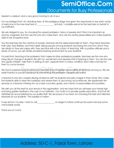 Sample Welcome Speech for New Teachers Free Download