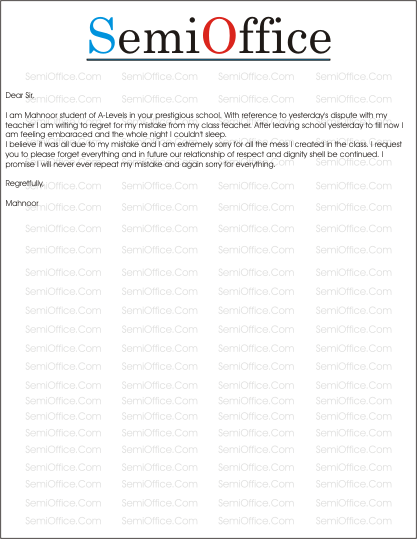 ApologyLetterSampleforMistakepng – Sample Apology Letter to Teacher