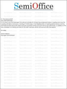 Postponed meeting letter sample spiritdancerdesigns Image collections