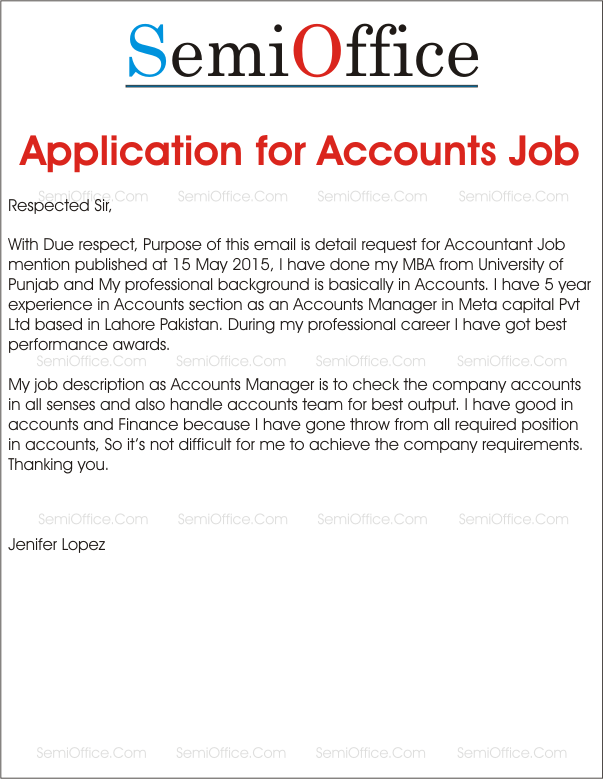 Job application for accountant positions for How to write a cover letter for accounting job