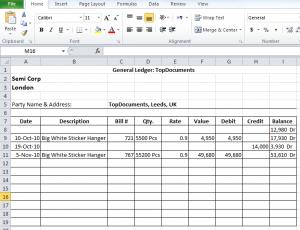General Ledger in Excel Free Download