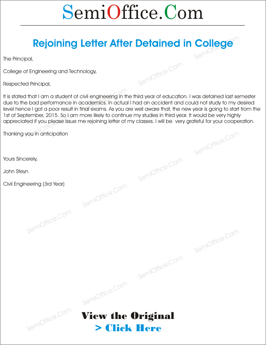 rejoin letter format Learn how to how to write a resignation letter, use these resign letter sample templates as a guide, free, best, simple, cover letters, examples.