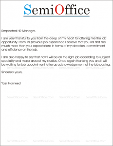 6 Thank You Letter For Job Offer Templates Free Job Offer Acceptance
