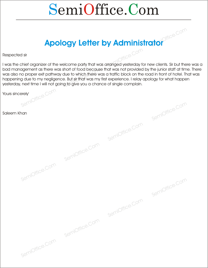 a letter to apology when you commit plagiarism Do you want to write an apology letter refer to the tips given in this article and refer to its template to draft a letter on your own.