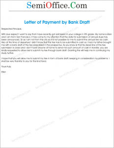 Application For Considering My Fee By Bank Draft