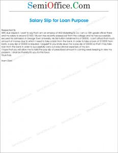 Application for salary slip for loan purpose spiritdancerdesigns Choice Image