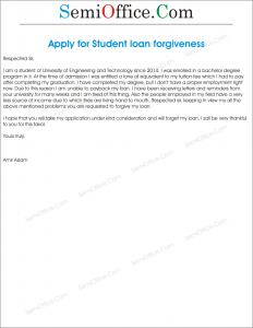 Application For Student Loan Forgiveness