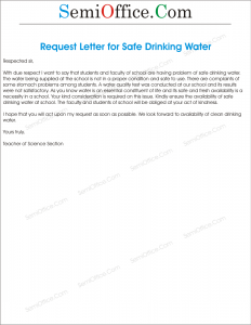 Sample Letter Requesting Water Account 31