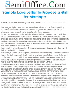 Sample love letter to propose a girl