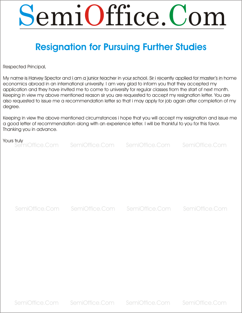 resignation_letter_for_further_studies july 1 2015 851 1100 resignation letter for further studies
