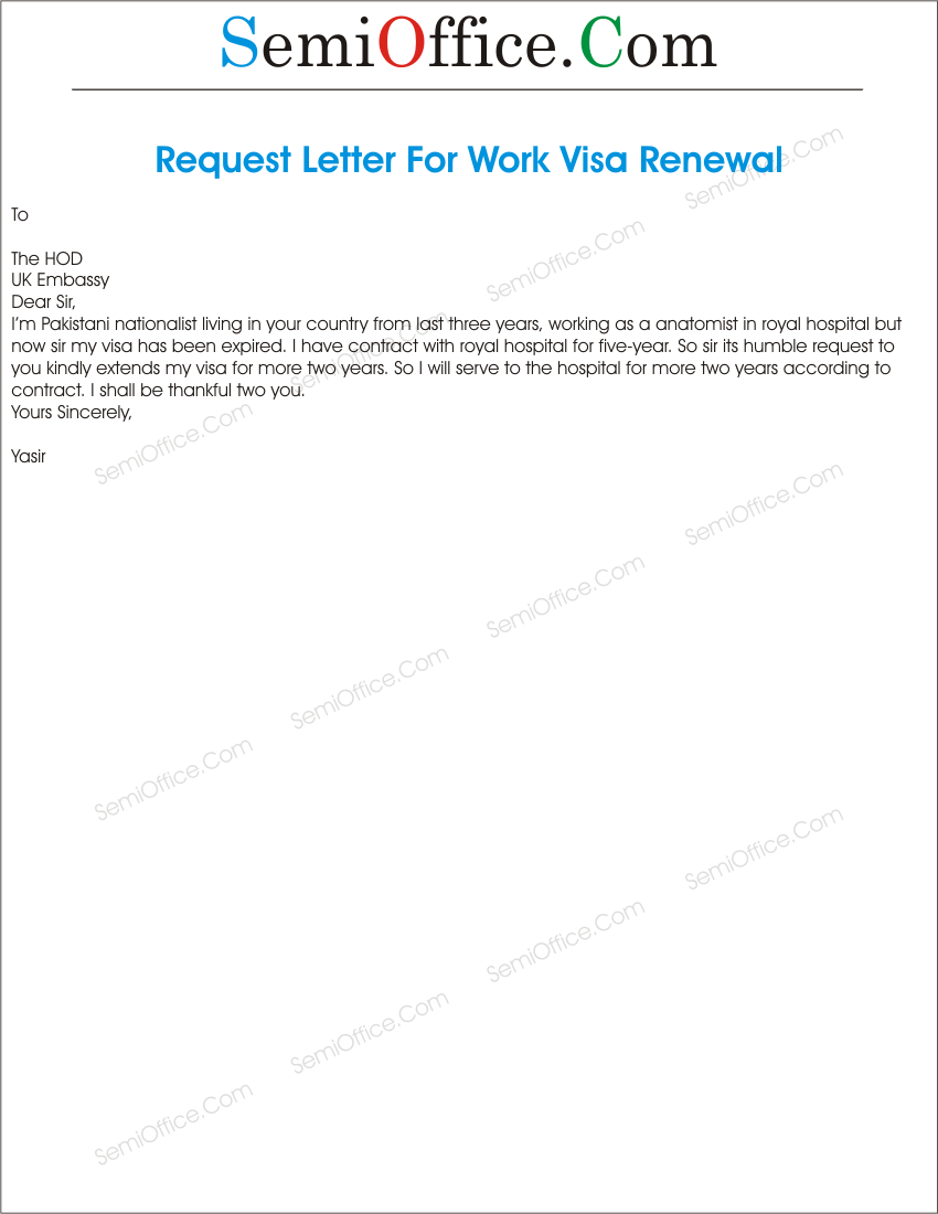 Visa Archives SemiOfficeCom – Sample Letter for Work Permit