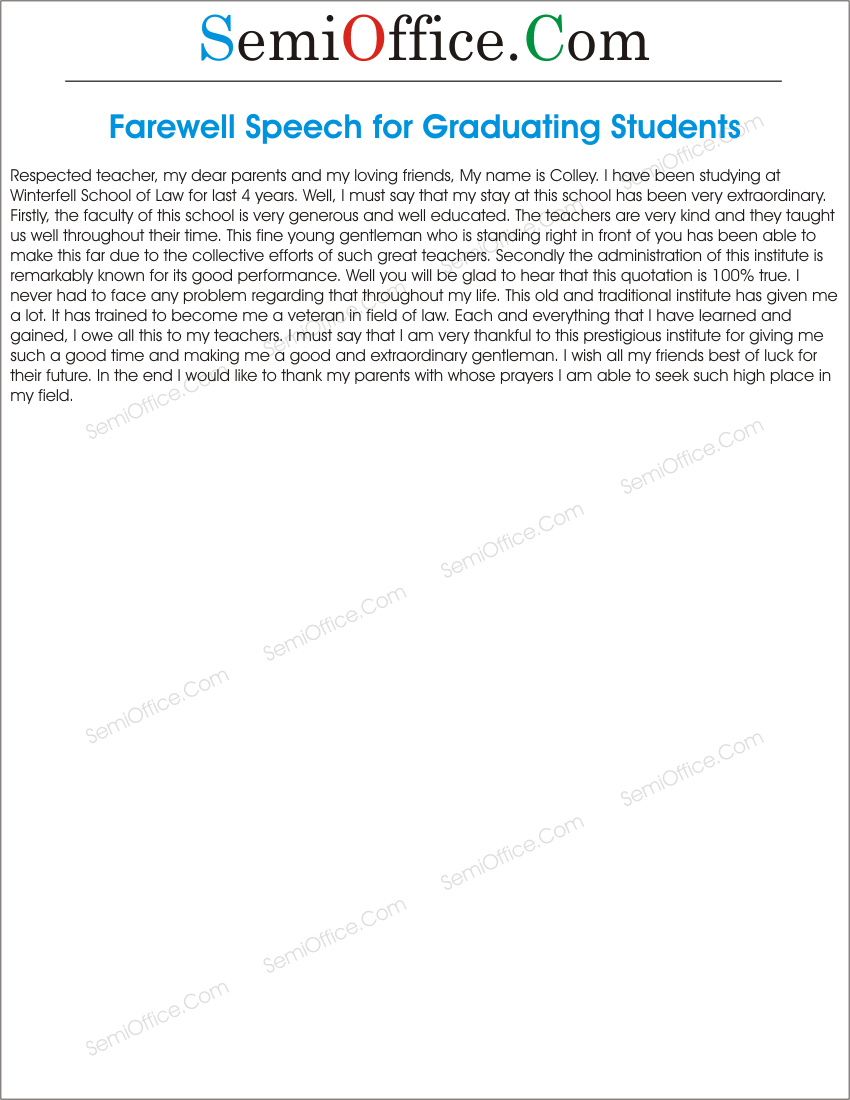 speech examples for college students