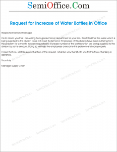 Water Increase Letter Request to GM