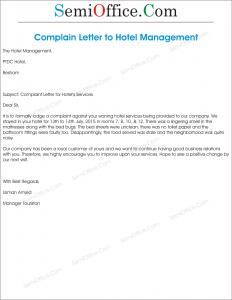 Complaint letter sample formal letter samples hotel complaint letter complaint letter to hotel management spiritdancerdesigns Choice Image