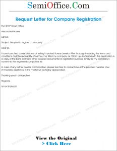 Application for Company Registration